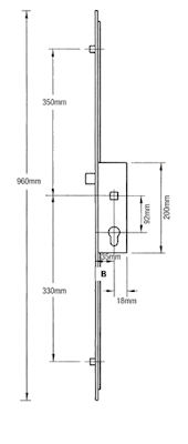 Fuhr 2 Rollers With Connections For Extensions Upvc Door